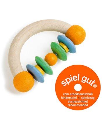 Houten rammelaar semicircle