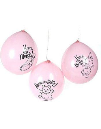 10 ballonnen 'hoera een...