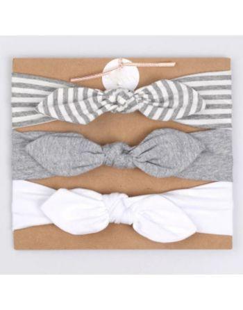 Haarband wit, grijs en...