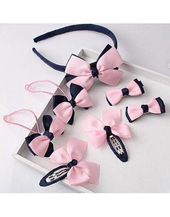 Haarbandje roze/blauw met...