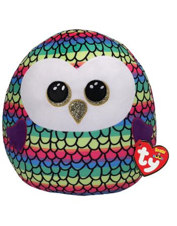 TY Squish a Boo Owen Owl 31cm