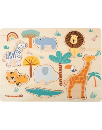 Vormenpuzzel Safaridieren