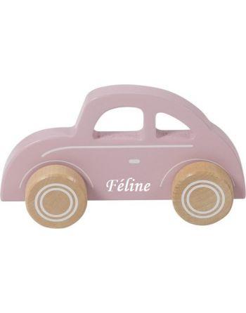 Auto roze met naam Little...