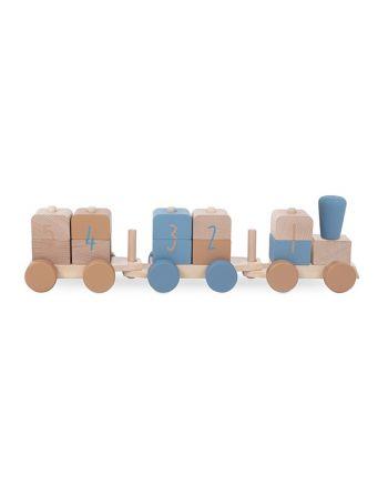 Houten Speelgoedtrein - Blue