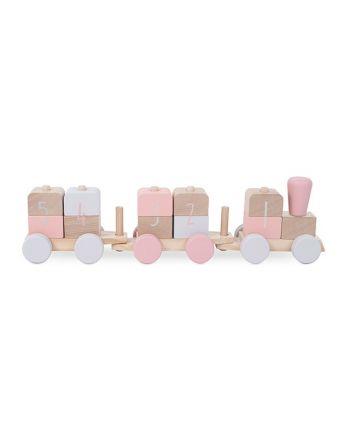 Houten Speelgoedtrein - Pink