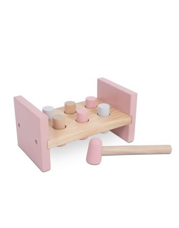 Houten Hamerbank - Pink
