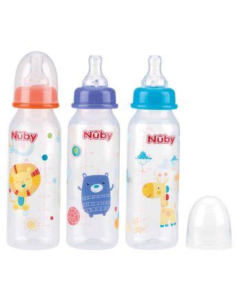 Nuby Baby Drinkfles 240ml Ass.
