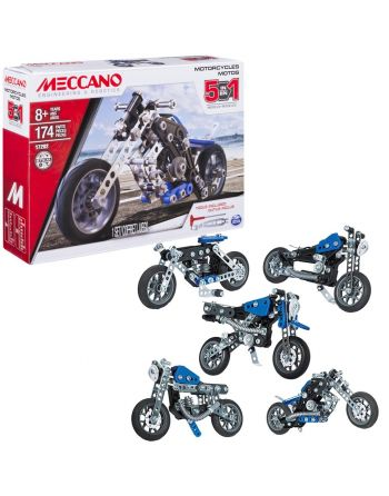Meccano 5 Modelset Motocycles