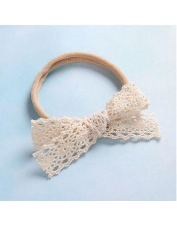 Haarbandje met kant - 12-14 cm
