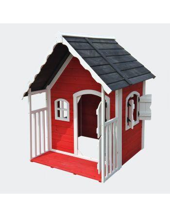 Houten speelhuis met veranda