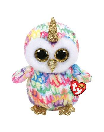 TY BEANIE BUDDY ENCHANTED OWL 24CM