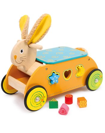 Rabbit Ride-on met Shape Sorter