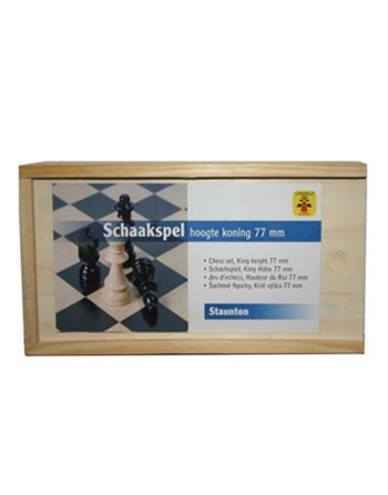 Kist Schaakstukken 77mm hout 150000