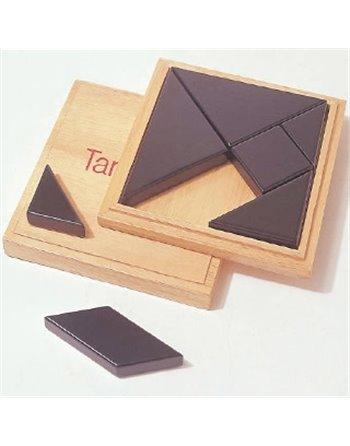 Tangram blank hout in doos 13x13cm340742