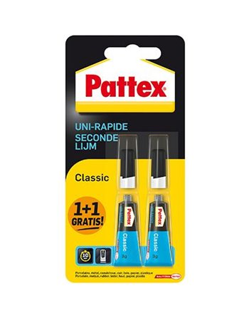Patex 1+1 Tube Super gel Secondenlijm