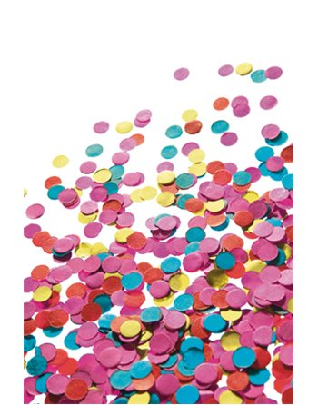 Confetti 100 gram in zak
