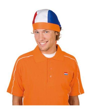 Bandana rood, wit, blauw, oranje