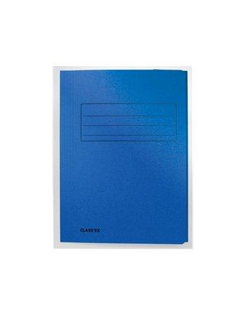 Dossiermap Foliokarton 300Gr Blauw 1071