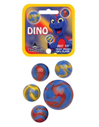 2 Dino knikkers 42mm 4053
