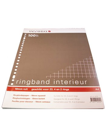 23 rings interieur 100 vel ruit 10mm
