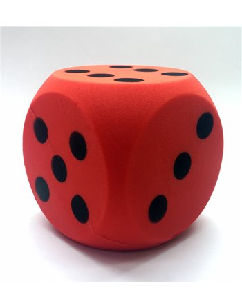 Foam dobbelsteen rood 16cm