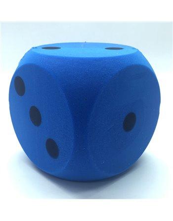 Foam dobbelsteen blauw 16cm