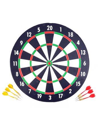 Dartbord 43cm + 6 darts in blister 06500
