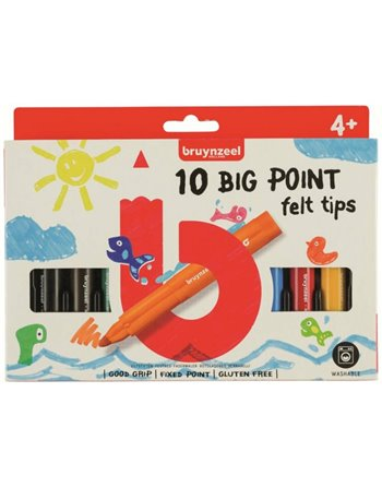 Bruynzeel 10 big point felt tips 6012201