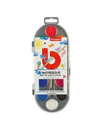 Bruynzeel 12 watercolour paint dots 6015