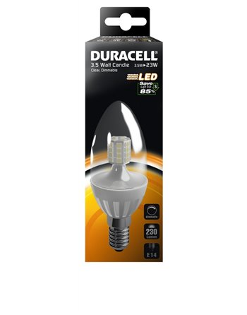 Duracell LED C2 clear 3.5W E14 230Lm
