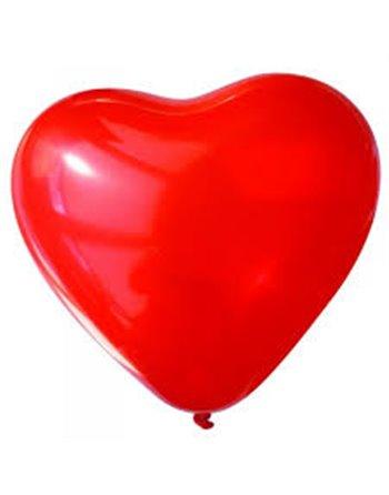 25x10 hartvormige ballon rood HA10