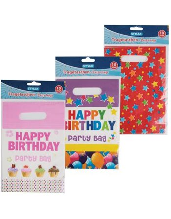 12 *10 Partybags 6 dessins 14085