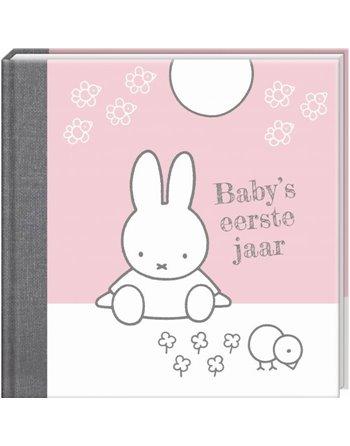 Nijntje babyboek baby s eerste jaar rose