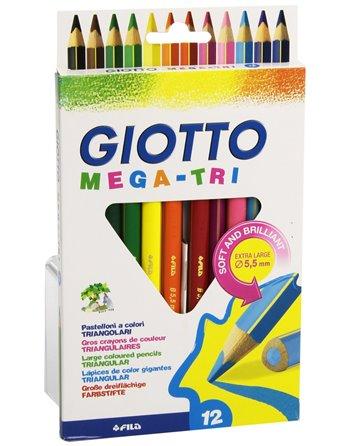 12 Giotto Mega Tri kleurpotloden 220600