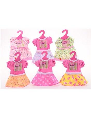 Baby rose poppenkleren pop 40-50cm 27531