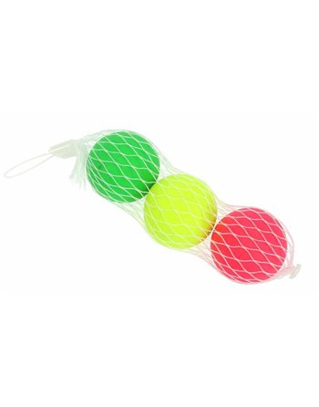 3 beachbal ballen in net 04206