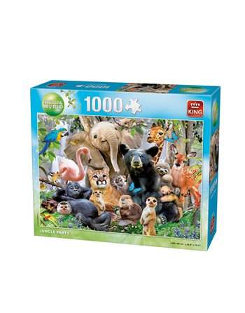 King Puzzel 1000 st. jungle party 05484