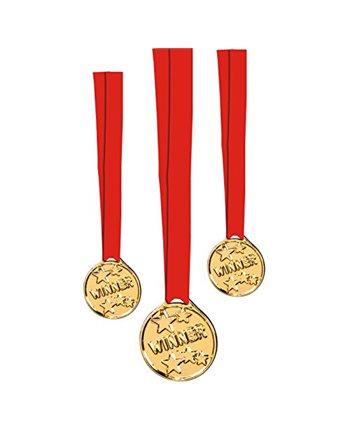 6 Medailles winner met rood lint 14575