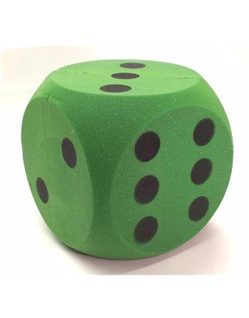 Foam dobbelsteen groen 16cm.
