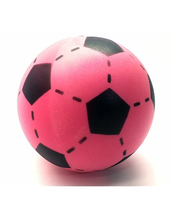 Foam voetbal roze 20 cm.
