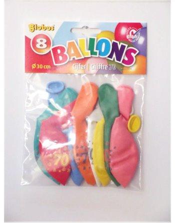 8 cijferballonnen nr. 70 2197