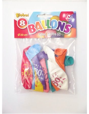 8 cijferballonnen nr. 60 2194