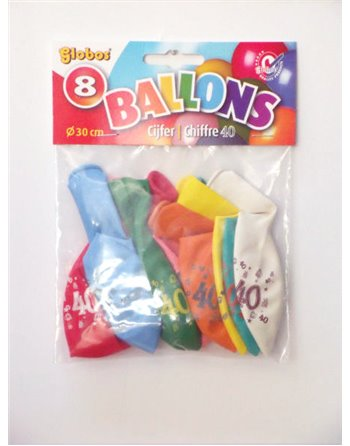 8 cijferballonnen nr. 40 2175