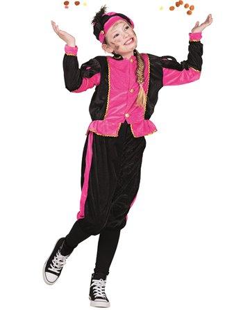 Kinderkostuum Zwarte Piet roze 4-6 56811