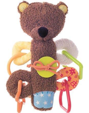 Niny pluche teddy piep rammelaar 700012