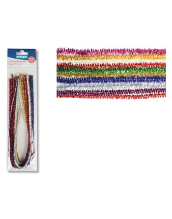 10 Glitter chenille draad 50cm 46742