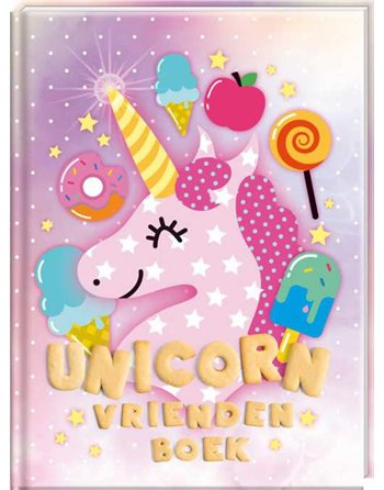 Unicorn vriendenboek 9,50 adv.