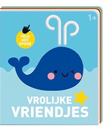 Kartonboekje-viltpagina vrolijke vriend