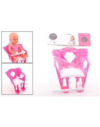 Baby rose poppen fietsstoel 27614