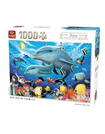 King puzzel 1000 st.dolphin family 55845